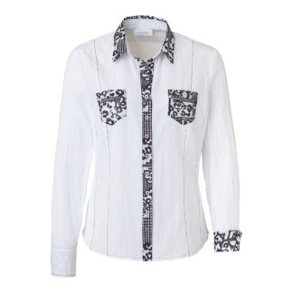 Just White Cotton Blouse Style 41634.