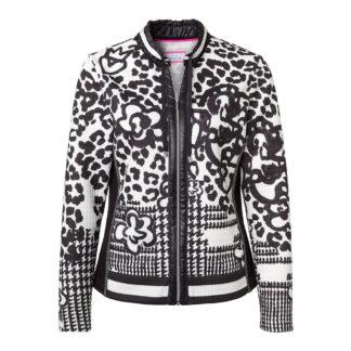 Just White Black/White Jacket Style 41640.