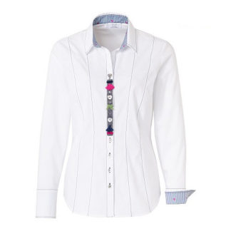 Just White Country Love Blouse Style 61900.
