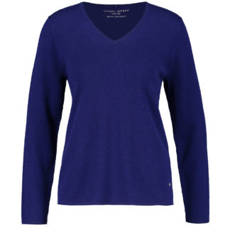 Gerry Weber Ultra Blue Pure Cashmere Sweater Style 170547.