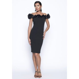 Frank Lyman Black Off Shoulder Dress Style 199105U.