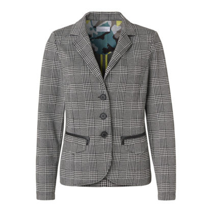 Just White Black/White Check Jacket Style 41682.