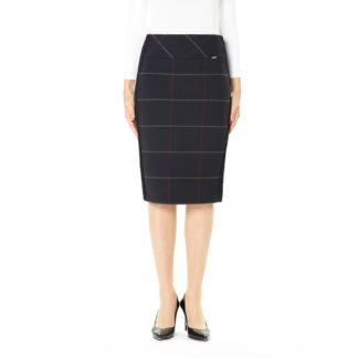 Guzella Navy Check Skirt Style 432533.