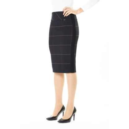Guzella Navy Check Skirt 432533.