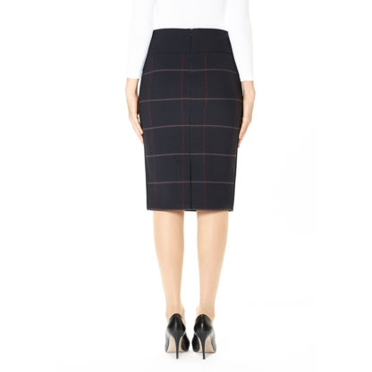 Guzella Navy Check Skirt.
