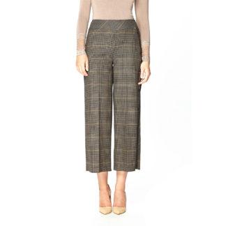 Guzella Brown Check Culottes Style 500875.