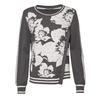 Monari Grey/Ecru Soft Sweater Style 803756.