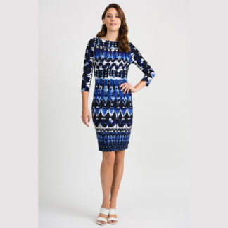 Joseph Ribkoff Blue/Black Dress Style 201473.