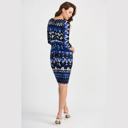 Joseph Ribkoff Blue/Black Dress 201473.