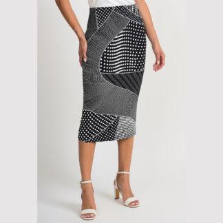 Joseph Ribkoff Black/White Skirt Style 201480.