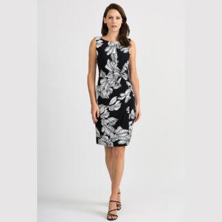 Joseph Ribkoff Black/White Print Dress Style 201519.