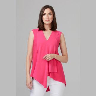 Joseph Ribkoff Hyper Pink Tunic Style Top Style 161060.