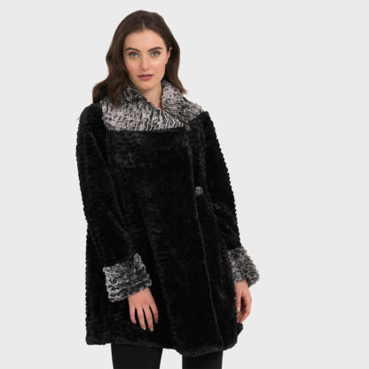 Joseph Ribkoff Faux Fur Coat Style 194501.