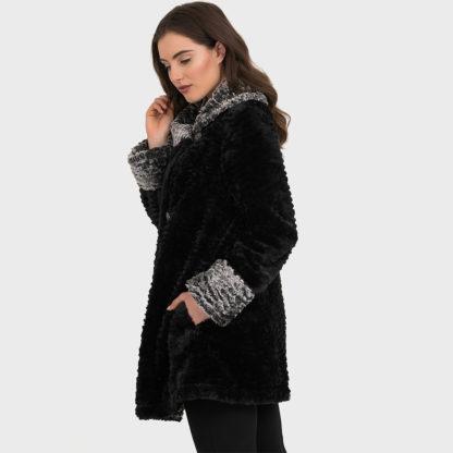 Joseph Ribkoff Faux Fur Coat.