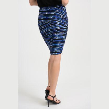 Joseph Ribkoff Black/Blue Skirt.