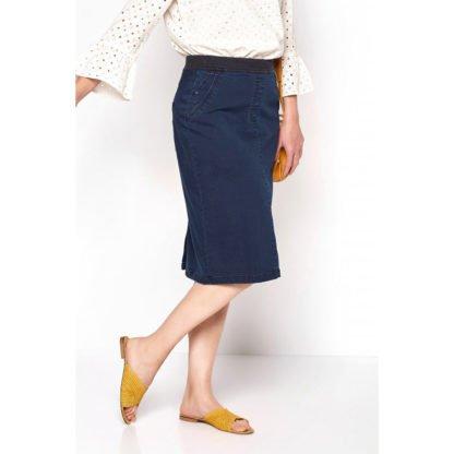 Toni Navy Denim Power Stretch Skirt Style 2907.