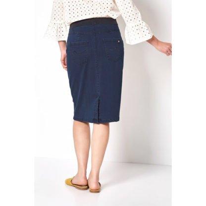 Toni Navy Denim Power Stretch Skirt 2907.