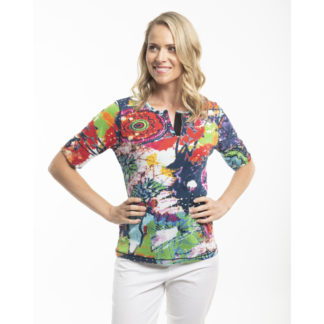 Orientique Abstract Cotton T Shirt Style 22604.
