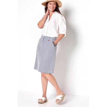 Toni Seersucker Skirt Style 2902-1.
