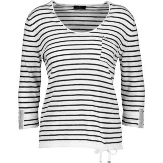 Monari Black/White Stripe Sweater Style 405145.