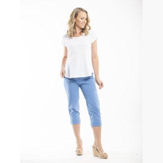 Orientique Blue Capri Pants Style 5691.