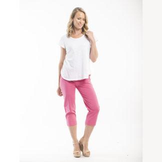 Orientique Pink Capri Pants Style 5691.