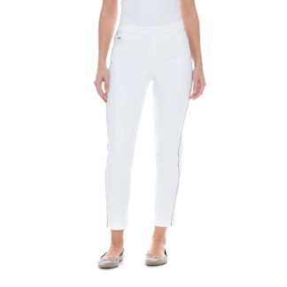 FDJ Pull On White Cigarette Ankle Pants Style 2118511.