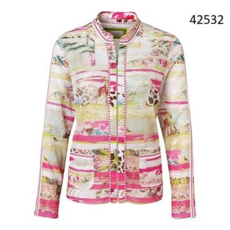 Just White Pink/Green Soft Multi Jacket Style 42532.