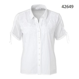 Just White Cotton Blouse Style 42649.